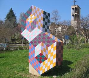 Victor Vasarely: Skulptur in Pécs, Ungarn