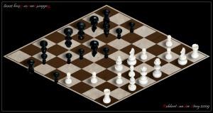 Schachbrett oben und unten