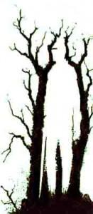 Bäume versteckt