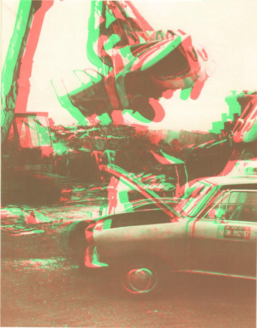Autofriedhof. Mit Rot-grün-Brille