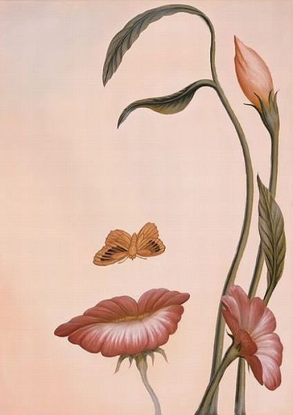 Blumen oder Gesicht