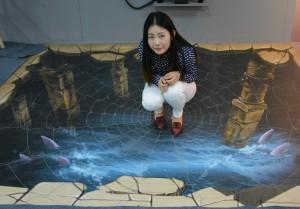 3D Floor Sticker Design