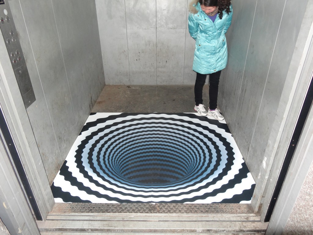 3D floor sticker - lift