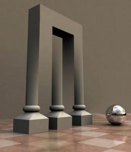 2 oder 3 Säulen