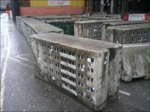 Hochhäuser oder Ziegelsteine