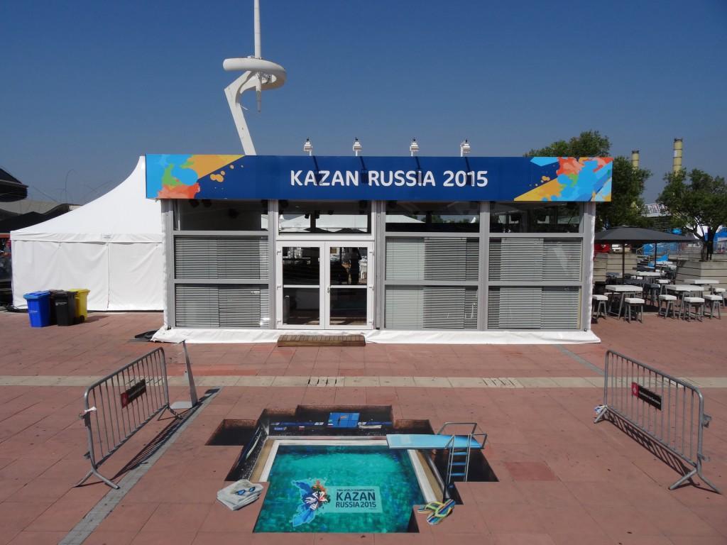 Kazan Russia 2015-Stand in Barcelona
