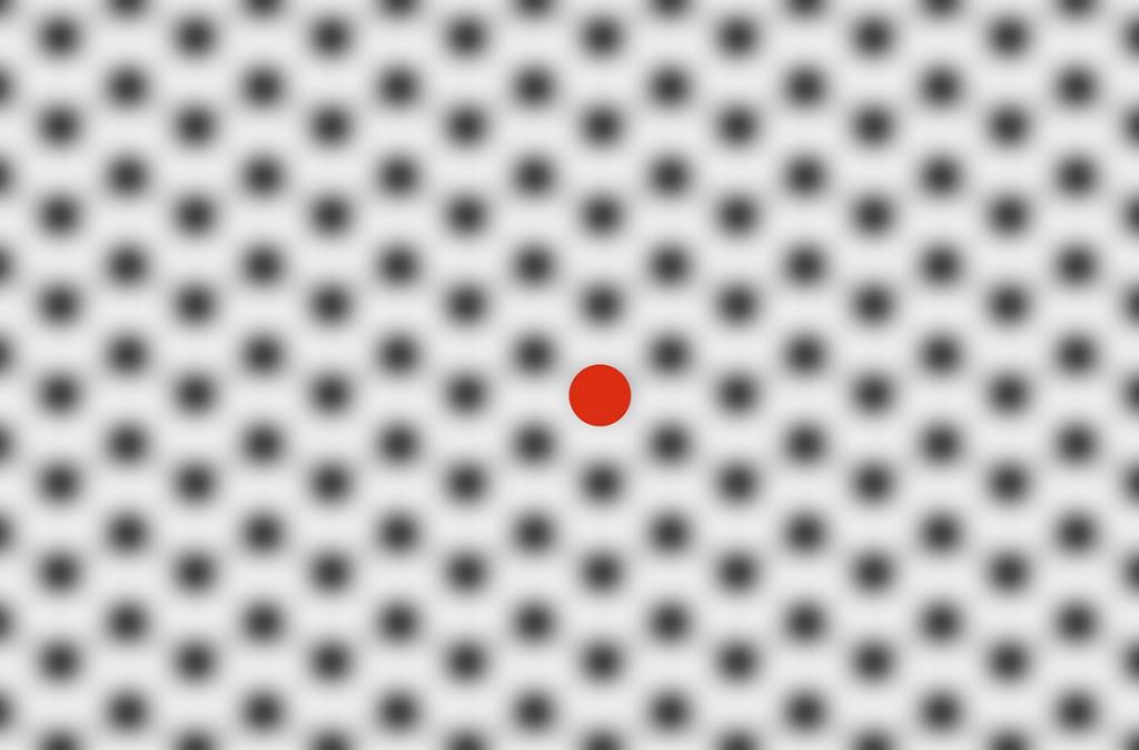 Fieser roter Punkt