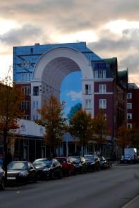 Wandmalerei in Vesterbro, Kopenhagen, Dänemark