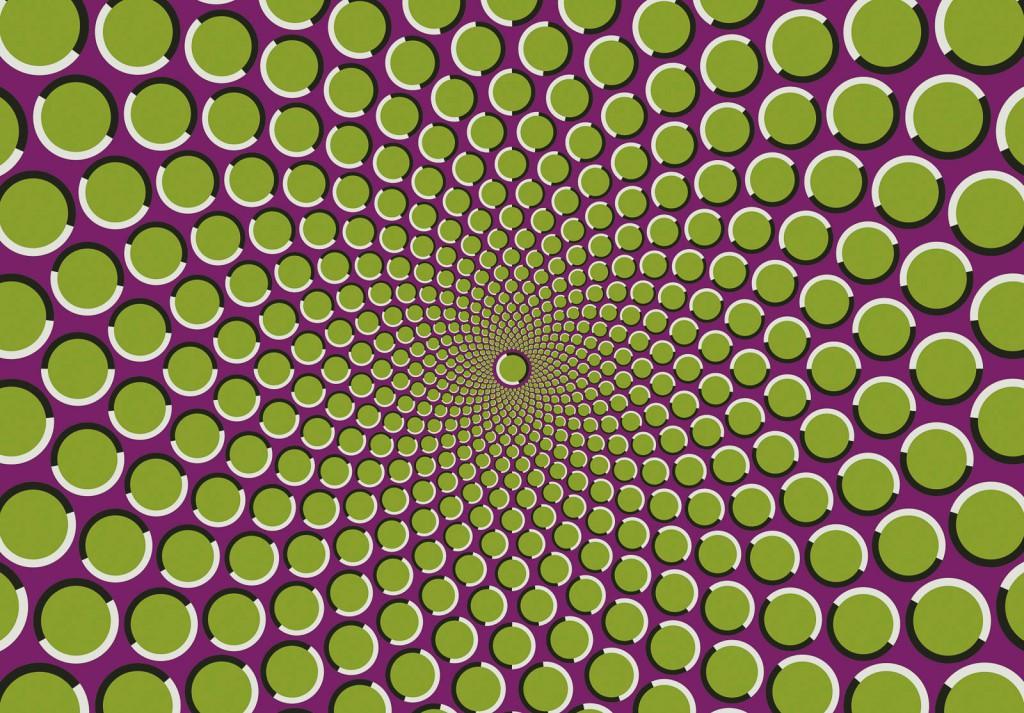 Bewegung durch Illusion