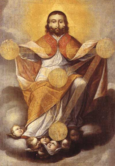 Heilige Dreifaltigkeit von Gregorio Vasquez de Arce y Ceballos