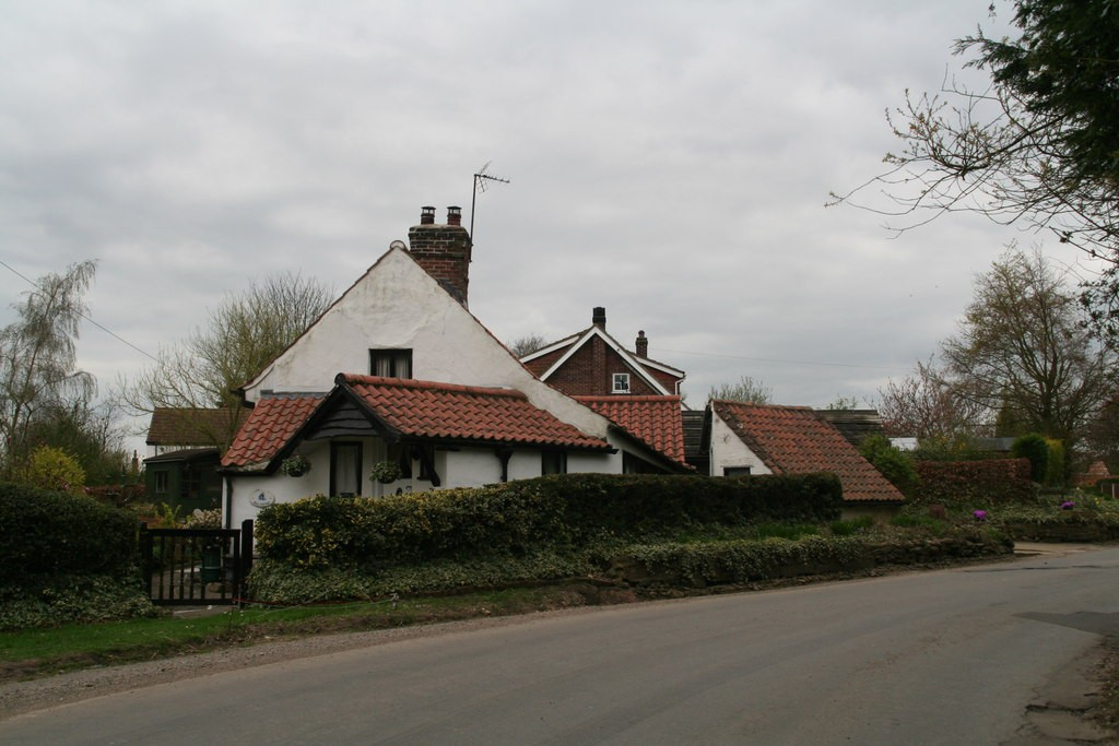 Optical illusion house in Belchford