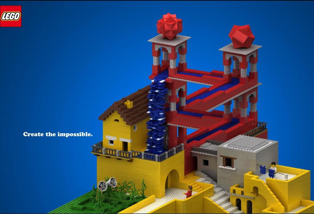 Eschers Wasserfall Lego
