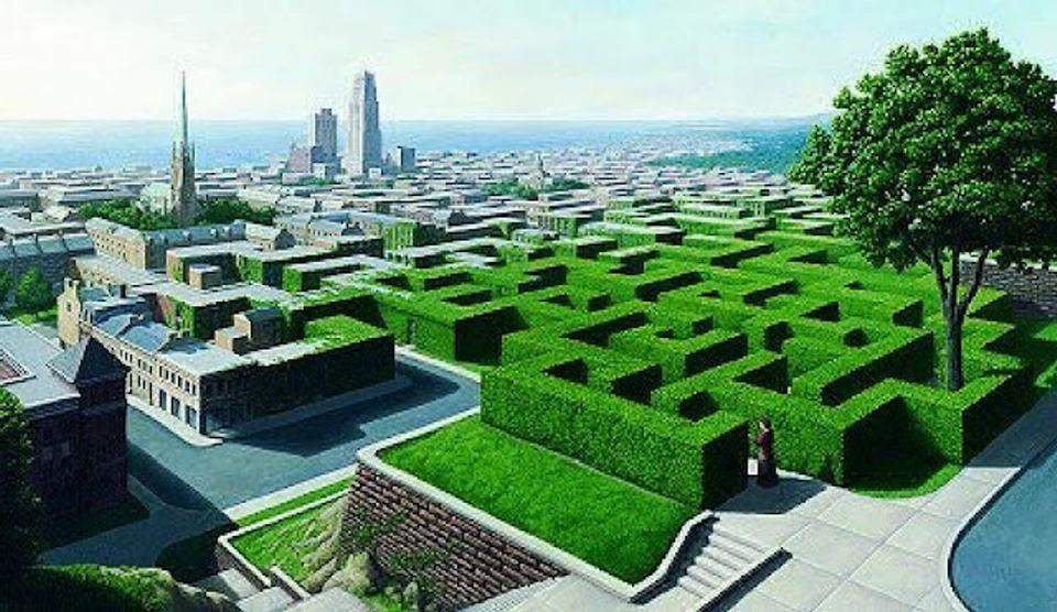 Großstadt oder Labyrinth? Bild: Rob Gonsalves