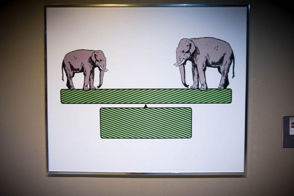 Elefanten auf der Waage