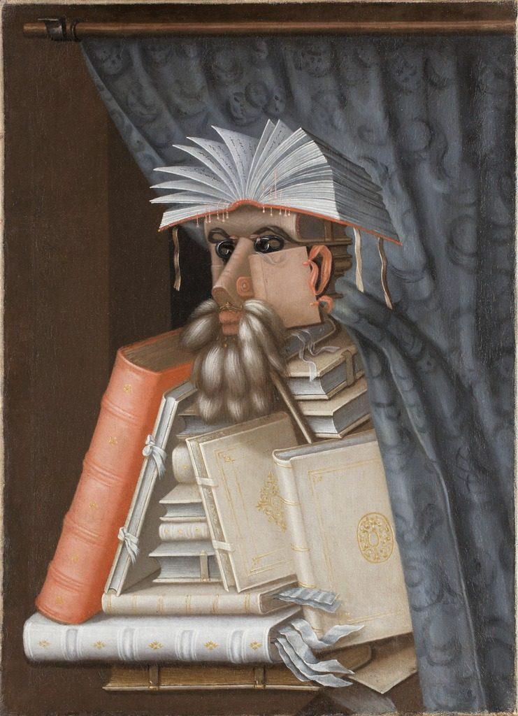 Der Bibliothekar (Giuseppe Arcimboldo )