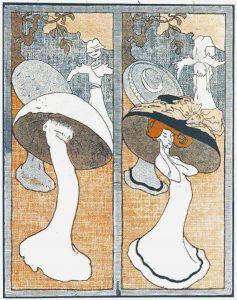Dame mit Hut oder Pilz?