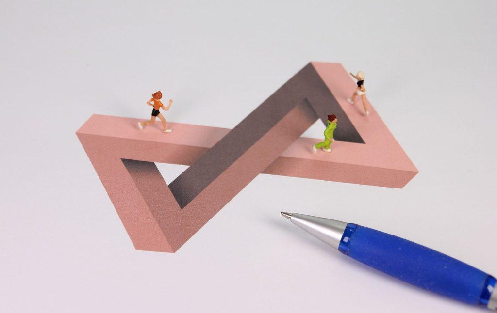 Unmögliche Miniatur-Figur