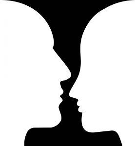 Vase oder Gesichter