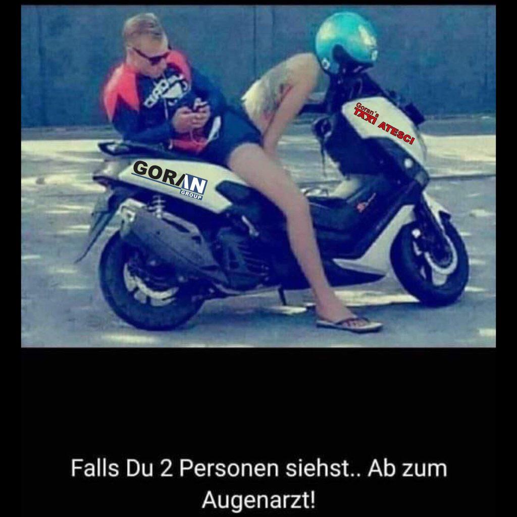 Personen auf Motorrad?