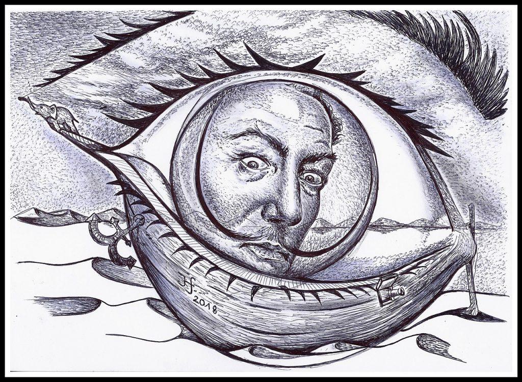 Salvador Dali als Auge