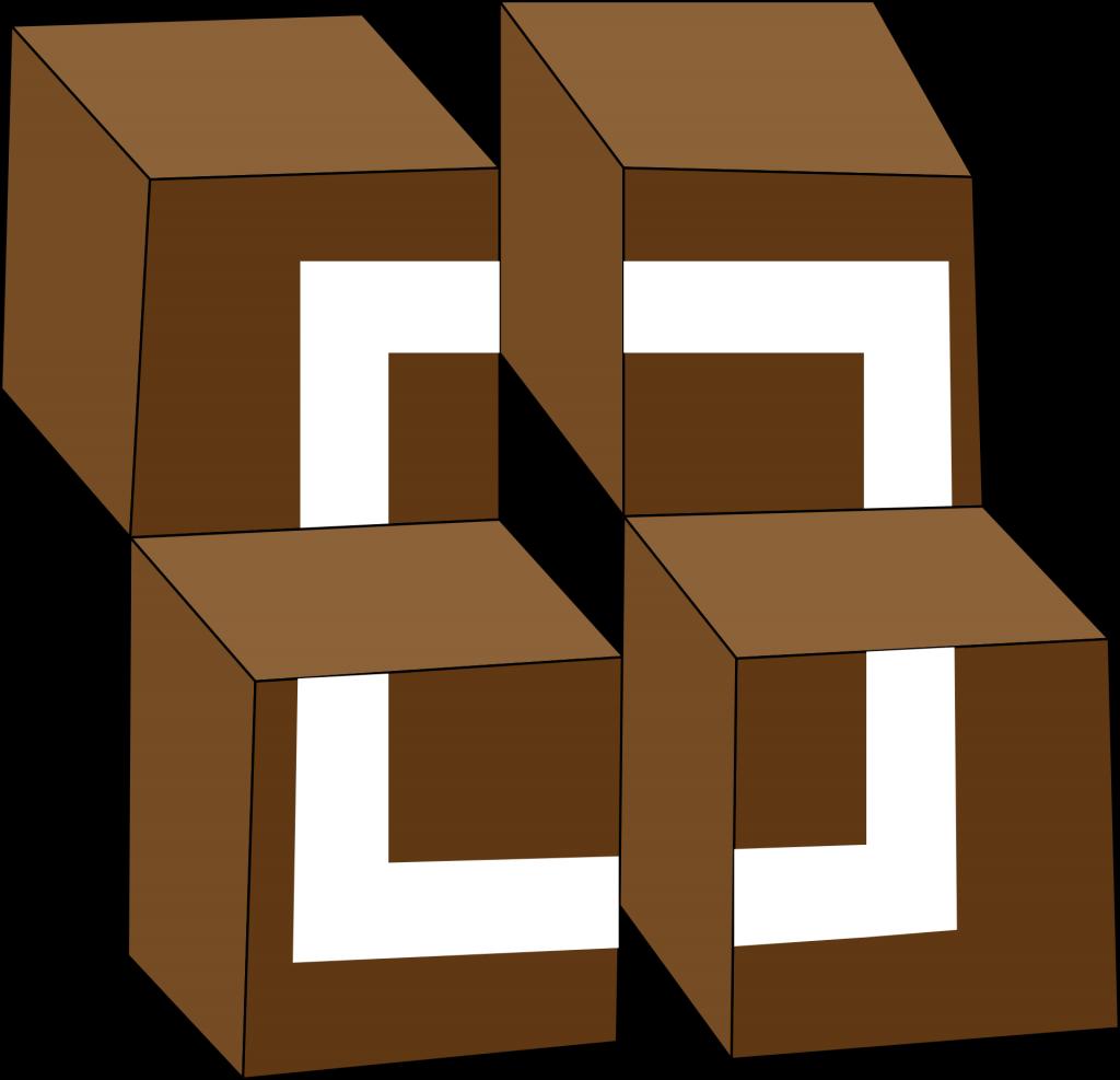 Würfel im Quadrat