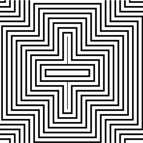 Geometric Pattern Illusion