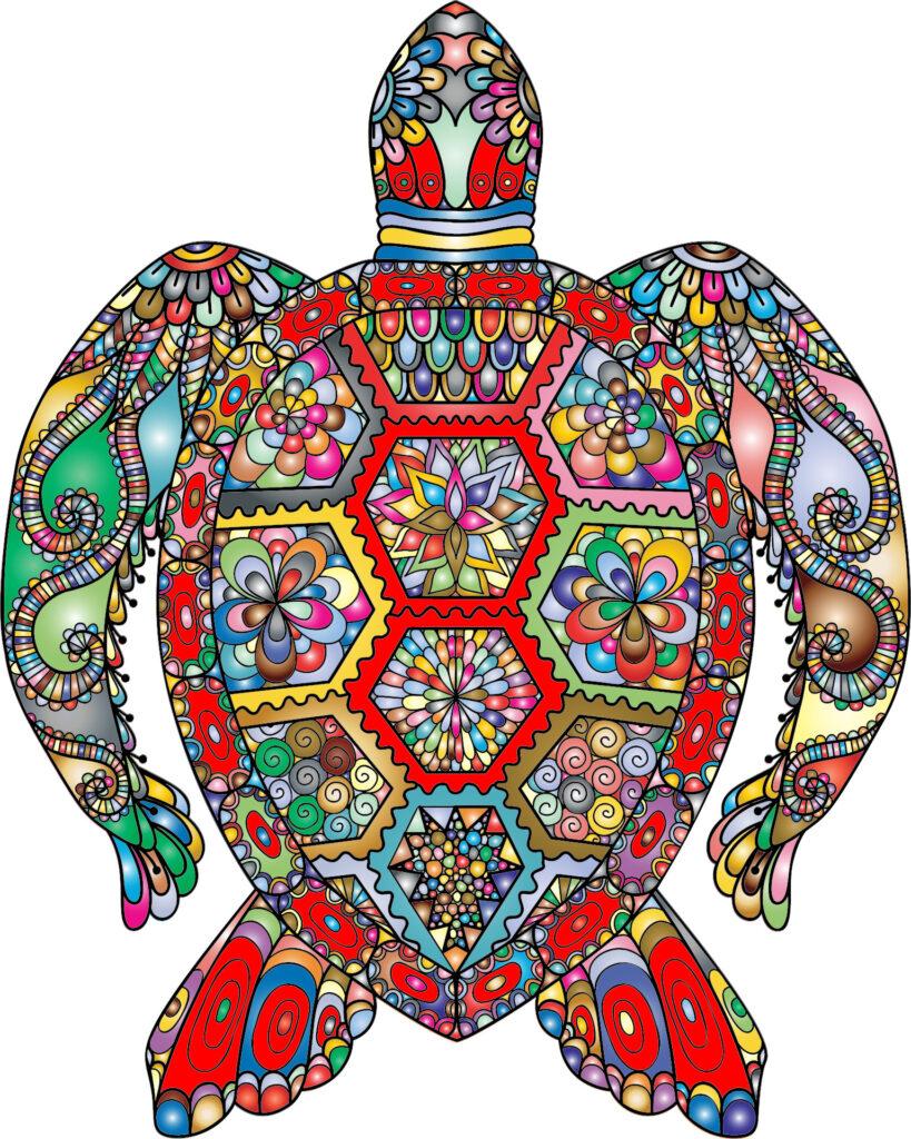 Meditatve Schildkröte