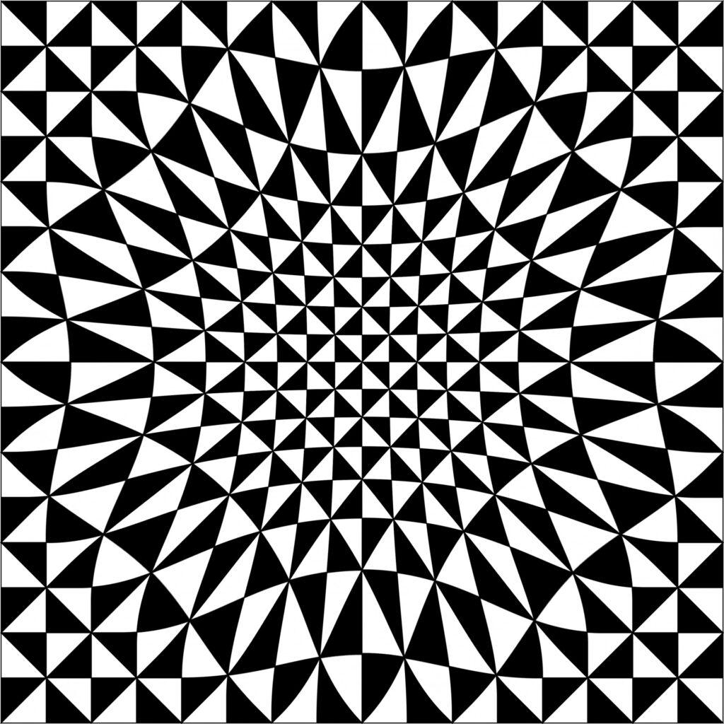 Geometrisches Hypno-Muster
