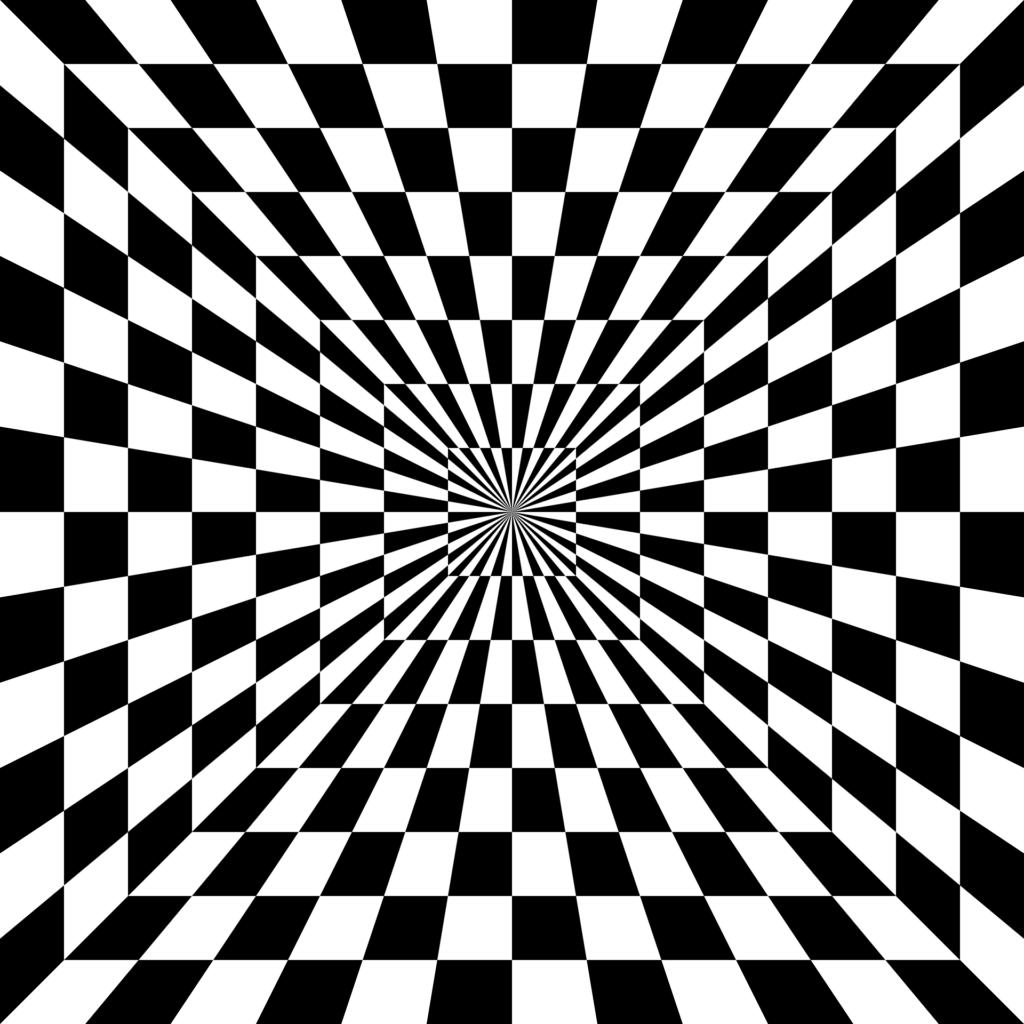 Hypnotischer Blick in die Tiefe