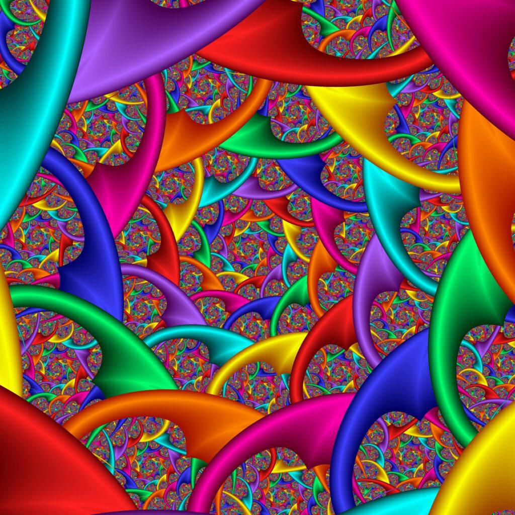 Fraktale Farbspirale